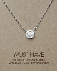 MUST HAVE series: Initial Silver Necklace Letter C