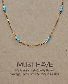 MUST HAVE series: Gold Delicate Blue Crystal