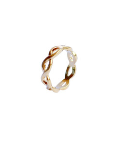 Be Chic! jewelry: Gold ring Infinity