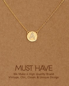 MUST HAVE series: Initial Gold Necklace Letter A