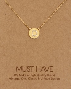 MUST HAVE series: Initial Gold Necklace Letter D