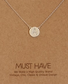 MUST HAVE series: Initial Silver Necklace Letter A