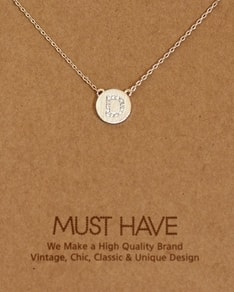 MUST HAVE series: Initial Silver Necklace Letter D