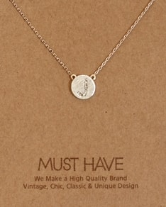 MUST HAVE series: Initial Silver Necklace Letter J