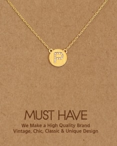 MUST HAVE series: Initial Gold Necklace Letter P