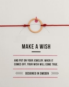 MAKE A WISH series: Red Karma Gold Silk Bracelet