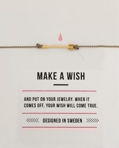 MAKE A WISH series: Grey Arrow Gold Silk Bracelet